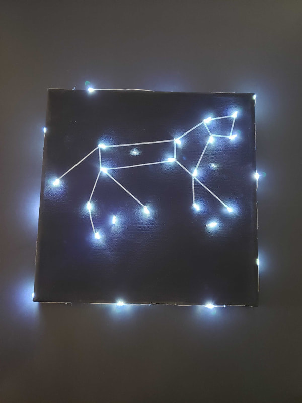 light up constellation art